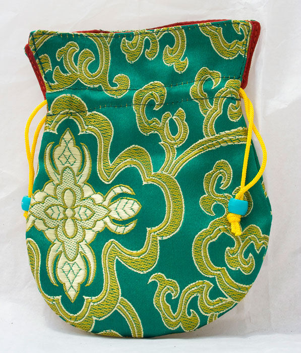 Large Brocade Mala Bag (Green)