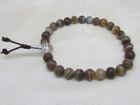 Brown Agate Hand Mala