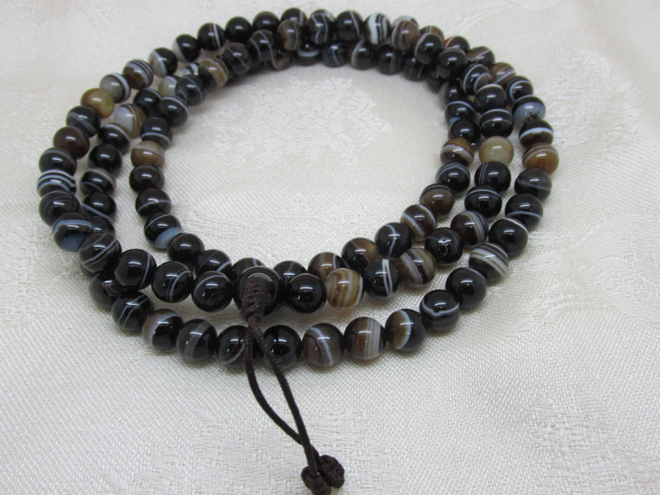 Polished Agate Mala