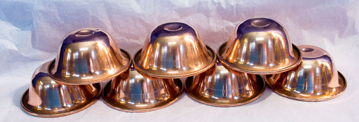 Set of 7 Plain Copper Offering Bowls