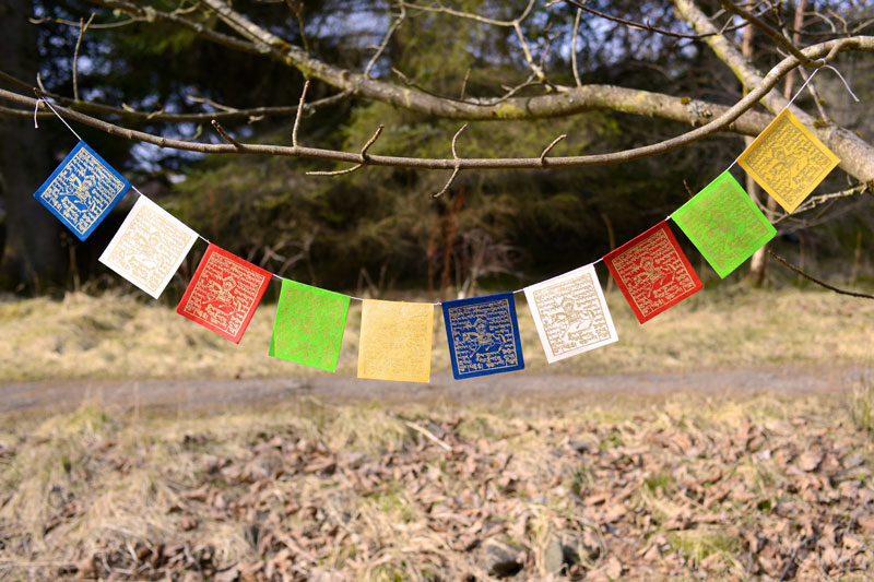 Handmade Paper Prayer Flags